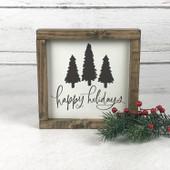 Happy Holidays Farmhouse Sign