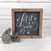 Let It Snow Farmhouse Wood Christmas Sign