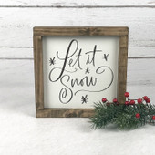 Let It Snow Farmhouse Wood Christmas Sign