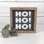Ho Ho Ho Santa Christmas Wood Sign