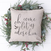 Oh Come Let Us Adore Him Christmas Pillow