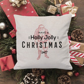 Have A Holly Jolly Christmas Throw Pillow Cover