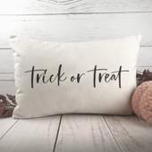 Trick Or Treat Lumbar Pillow