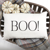 Boo Farmhouse Pillow Cover
