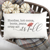 Hoodies, Hot Cocoa, Boots, Jeans Farmhouse Throw Pillow