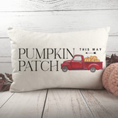 Pumpkin Patch Farmhouse Red Truck Pillow Cover