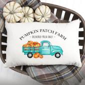 Pumpkin Patch Farmhouse Truck Pillow Cover