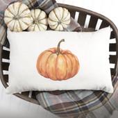 Watercolor Pumpkin Throw Pillow Cover