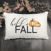 Hello Fall Watercolor Pillow Cover