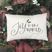 Joy To The World Lumbar Throw Pillow