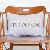 Peace Love Joy Christmas Pillow