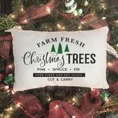 Farm Fresh Christmas Tree Lumbar Pillow