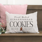 Fresh Baked Gingerbread Christmas Throw Pillow