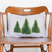Watercolor Christmas Tree Pillow
