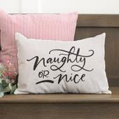 Naughty Or Nice Lumbar Pillow