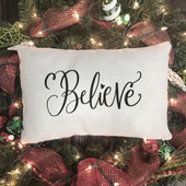 Believe Christmas Pillow Cover
