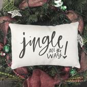Jingle All The Way Christmas Farmhouse Pillow