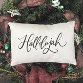 Hallelujah Christmas Farmhouse Pillow