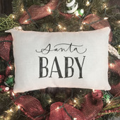 Santa Baby Pillow Cover