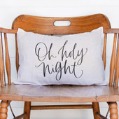 Oh Holy Night Lumbar Christmas Pillow