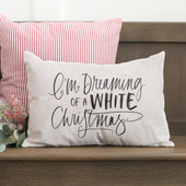 I'm Dreaming Of A White Christmas Lumbar Pillow