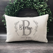 Initial Monogram Throw Pillow