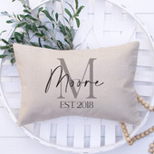 Custom Monogrammed Lumbar Pillow Cover