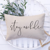 Stay Awhile Guest Bedroom Pillow Cover