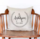 Farmhouse Custom Monogram Last Name Pillow