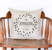 Farmhouse Family Personalized Throw Pillow