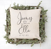 wedding gift idea, personalized throw pillow