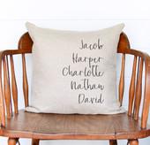 First Names Kids Custom Throw Pillow