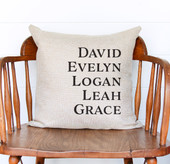 Personalized Grandkids First Name Throw Pillow Cover