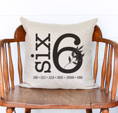 personalized family name pillow