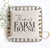 Family Custom Farmhouse Throw Pillow