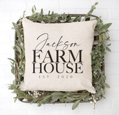 family farmhouse pillow