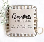 Grandkids Make Life Grand Custom Throw Pillow Cover