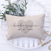 Wedding Gift Personalized Pillow
