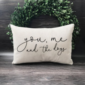 You Me And The Dogs Throw Pillow