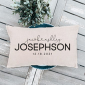 personalized throw pillow with names