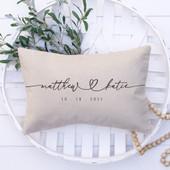 Wedding Throw Pillow With Names