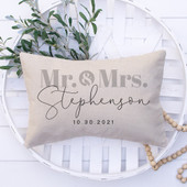 Mr & Mrs Personalized Pillow With Names