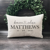 Mr & Mrs Personalized Wedding Pillow