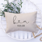 Initials With Heart Throw Pillow