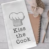 Kiss The Cook Tea Towel