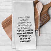 Coffee Kitchen Tea Towel