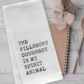 The Pillsbury Doughboy Is My Spirit Animal Funny Tea Towel
