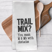 Trail Mix M&Ms With Obstacles Tea Towel