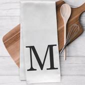 Personalized Initial Tea Towel