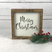 farmhouse Christmas sign